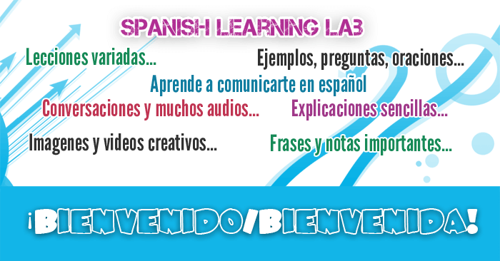 ¡Bienvenido/Bienvenida! This is a website to learn Spanish for free from a basic level with simple lessons to help you communicate effectively in this awesome language. Each lesson has lots of examples that you can read and listen to, as well as useful grammar explanations, nice videos, communicative tips, real conversations and interactive quizzes to get the best out of each topic.