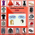 Clothing items in Spanish