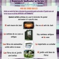 Definite articles in Spanish lesson - Los determinantes
