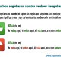 Irregular verbs in Spanish - los verbos irregulares