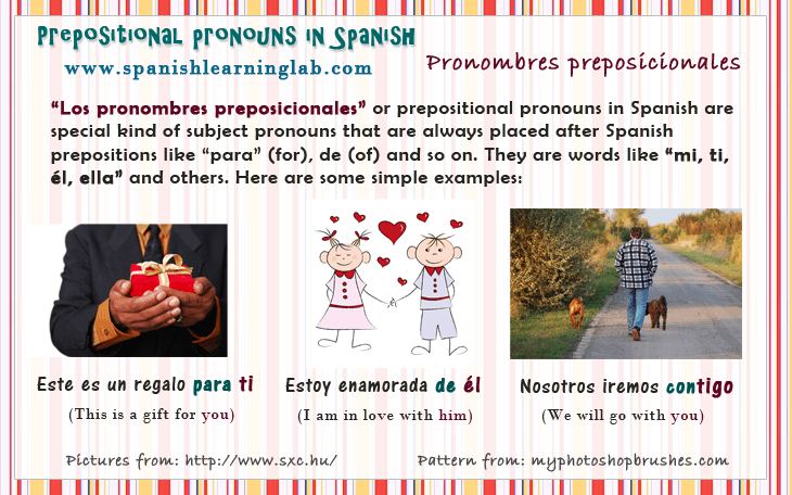 Prepositional Pronouns in Spanish