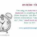 How ask the time in Spanish