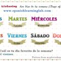 Days of the week in Spanish - Los días de la semana