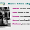 Sequence words in Spanish Lesson