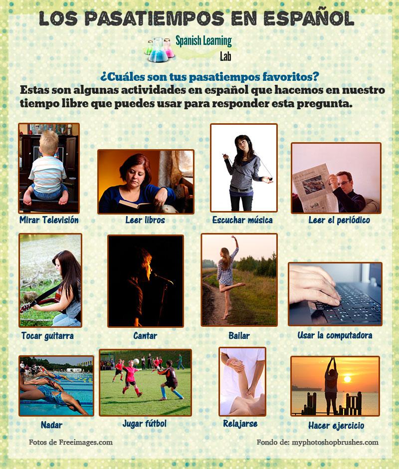 Las actividades de tiempo libre en español / Los pasatiempos en español