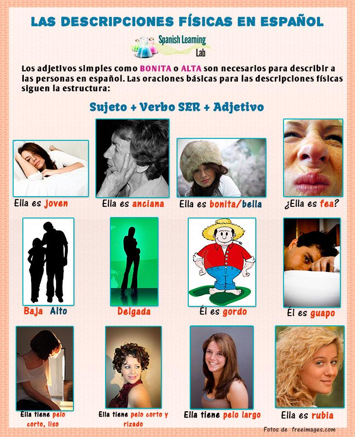 Las descripciones físicas en español - adjetivos y oraciones