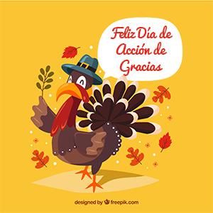 Felíz día de acción de gracias en español