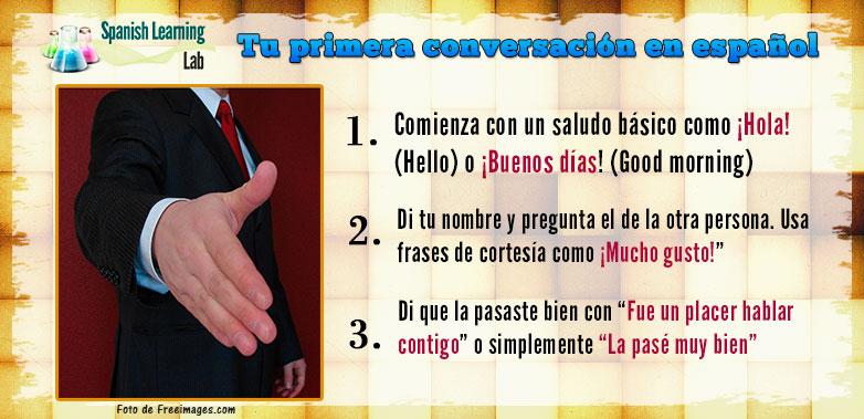 Tu primera conversación en español