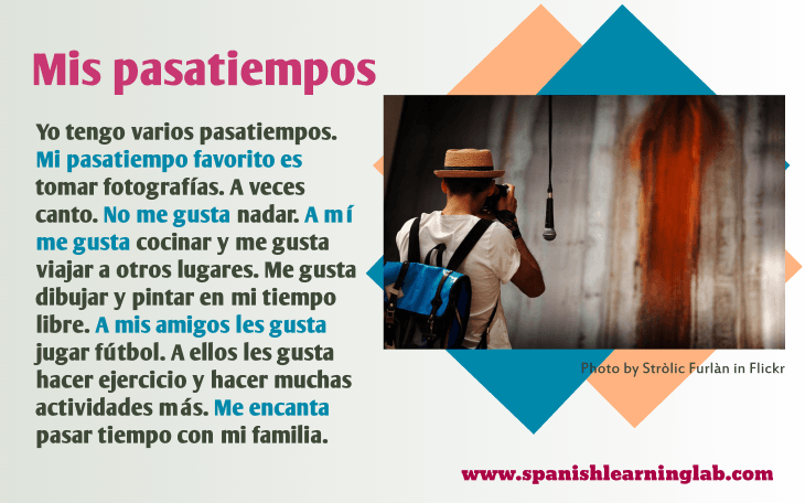 Hobbies in Spanish: A List of Activities, Likes and Dislikes ...