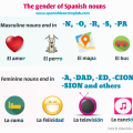 The gender of nouns in Spanish - Genero