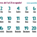 Numbers in Spanish 1 to 20 - los numeros del 1 al 20