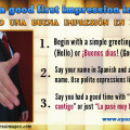 Making a good first impression in Spanish (greetings and farewells)