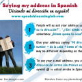 Asking and saying your address in Spanish