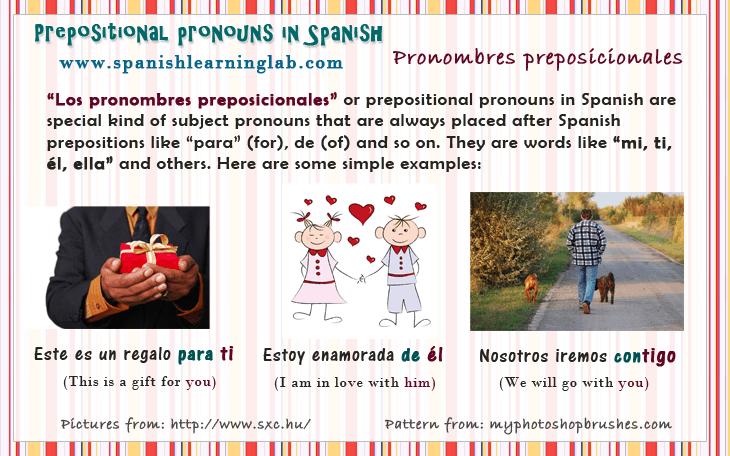 Prepositional Pronouns in Spanish
