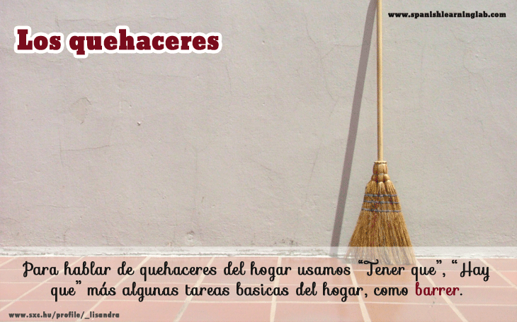 Household chores in Spanish and expressing obligations