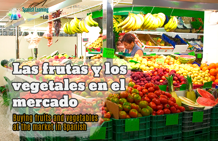 Shopping Fruits and Vegetables in Spanish at the Market in Spanish
