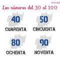 Numbers in Spanish 30 to 100