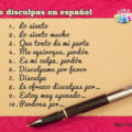 Ways to say sorry or apologize in Spanish