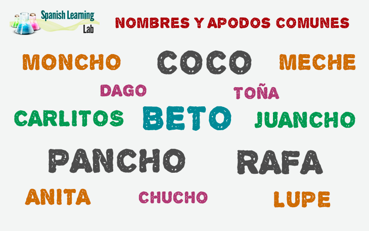 Nicknames: A Lab For Learning Spanish With Free Online Lessons