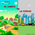 Comparing life in the city with life in the countryside in Spanish
