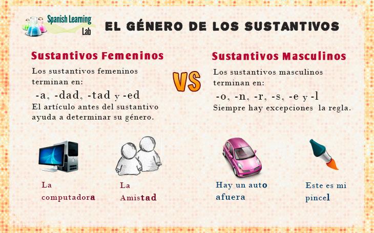 El género de los sustantivos en español