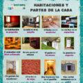 Habitaciones y partes de la casa en español con actividades de escucha