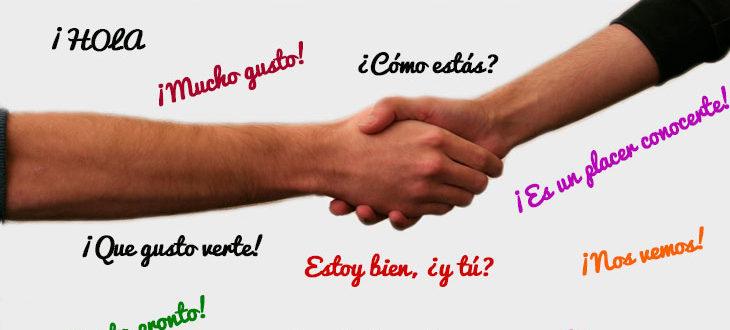 Los saludos y las despedidas en español
