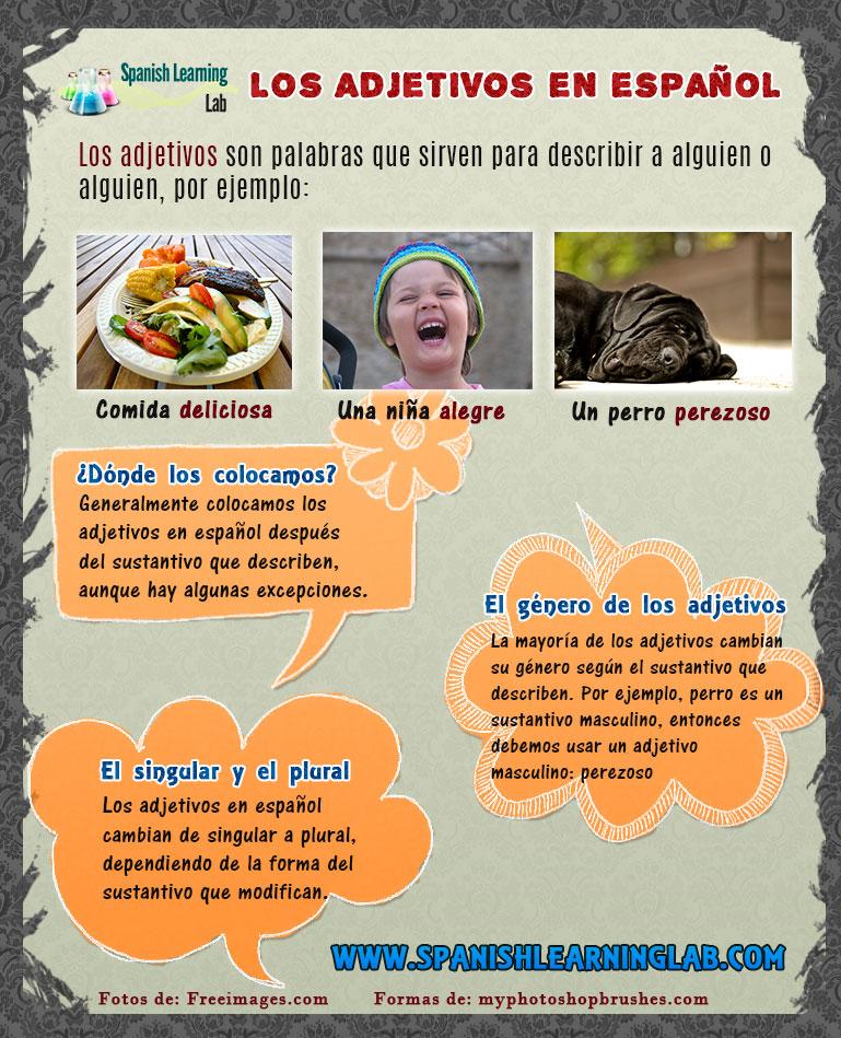 El orden y colocación de los adjetivos en español