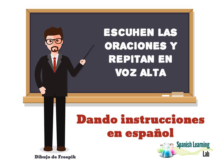 Instrucciones y mandatos en español