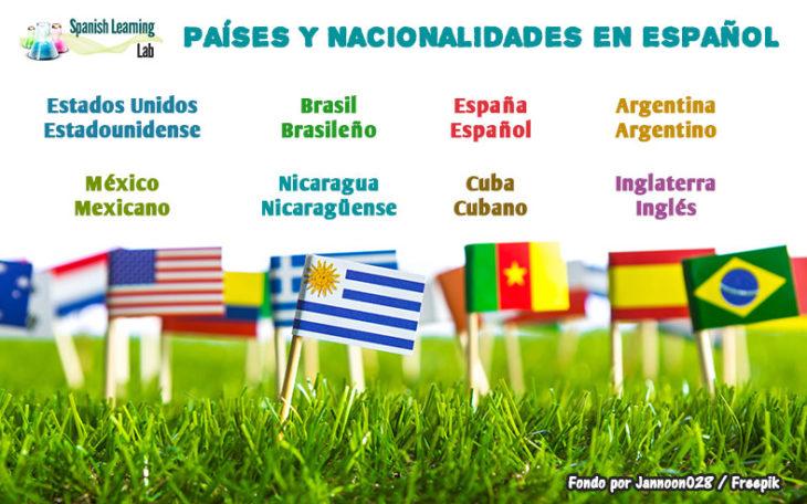 Los países y las nacionalidades en español