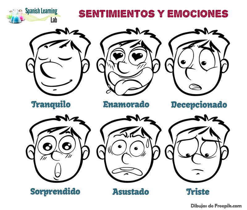 Los sentimientos y las emociones en español - vocabulario y conversaciones