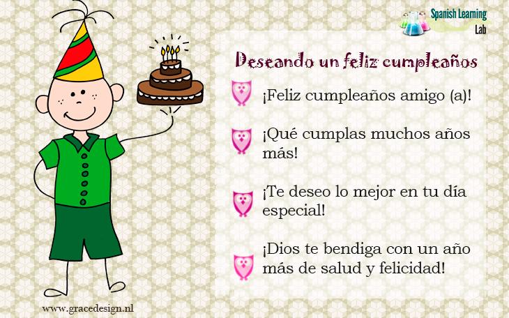 Frases para desear un feliz cumpleaños en español