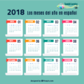 Talking about the months in Spanish - Calendar in Spanish
