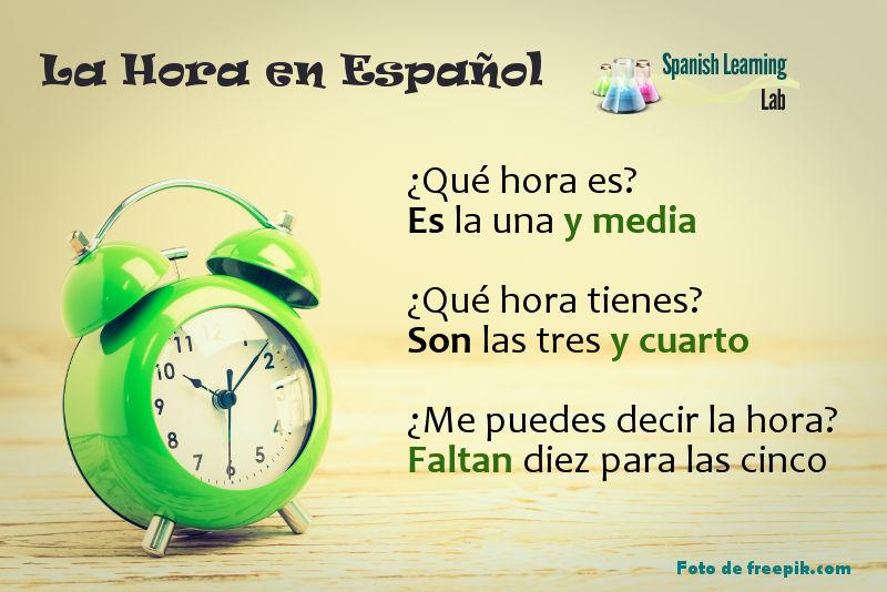 Cómo preguntar y decir la hora en español