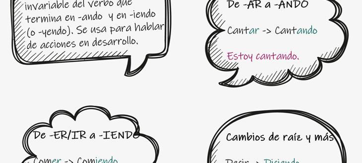 El gerundio en español: reglas, ejemplos de oraciones y ejercicios