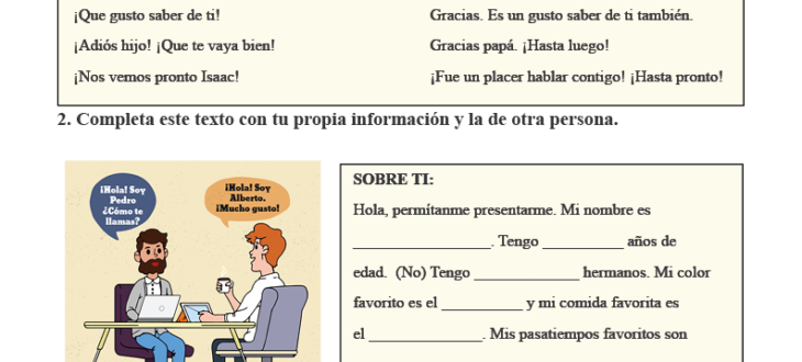 Getting to Know People in Spanish: PDF Worksheet