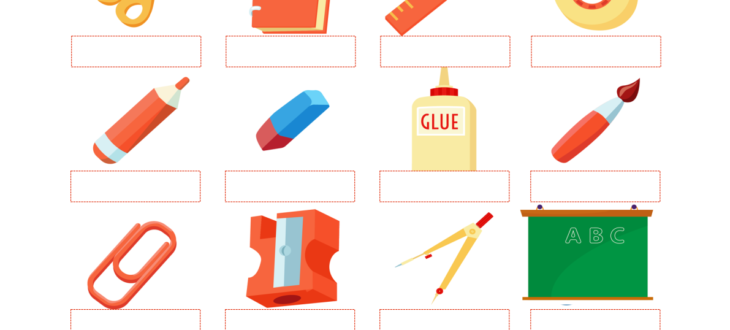 Classroom Objects in Spanish - PDF Worksheet