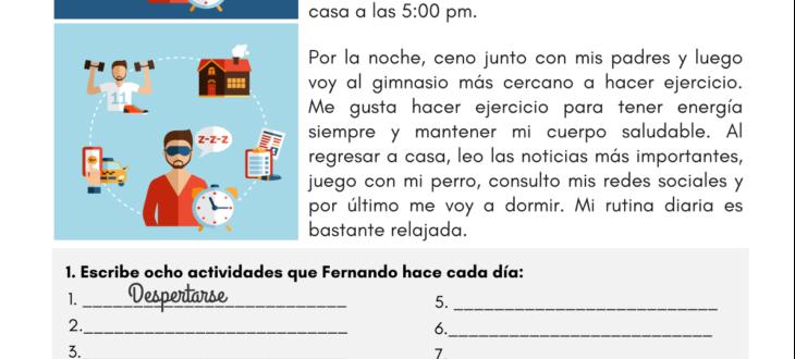 Spanish Reading Worksheets Archives - SpanishLearningLab