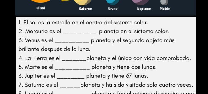 ordinal numbers spanish worksheet números ordinales español