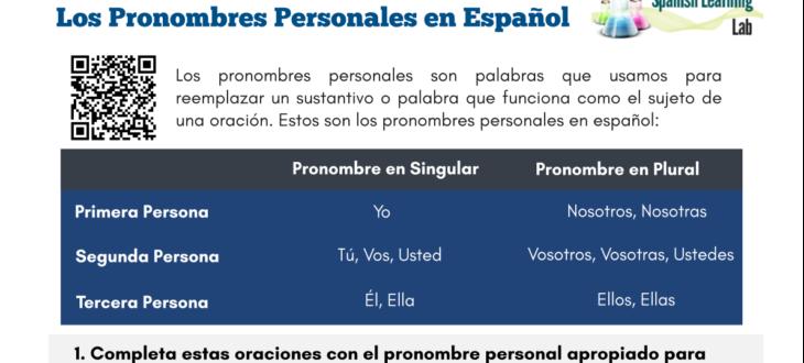subject-pronouns-spanish-worksheet-pronombres-personales-ejercicios-español