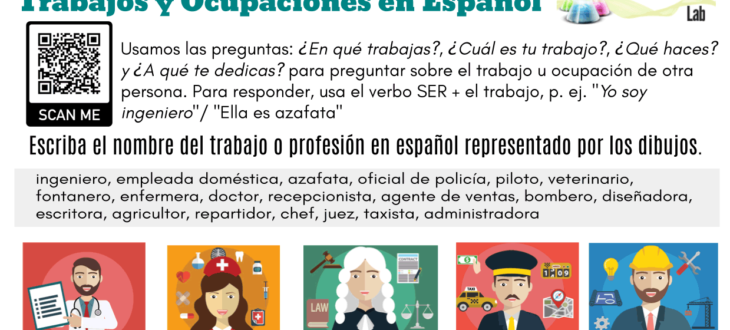 jobs-and-occupations-in-Spanish worksheet trabajos y ocupaciones ejercicios PDF