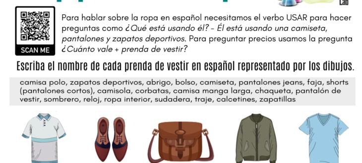 man-clothes-spanish-worksheet-pdf-ropa-de-hombre-español-ejercicios