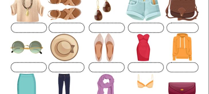 woman clothes spanish worksheet pdf ropa de mujeres español ejercicios pdf