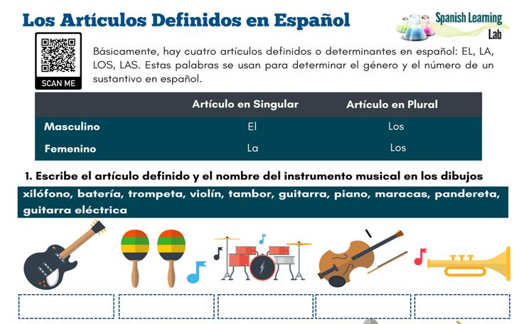Spanish Grammar Worksheets