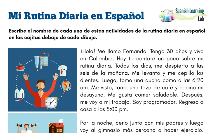 Spanish Reading Worksheets