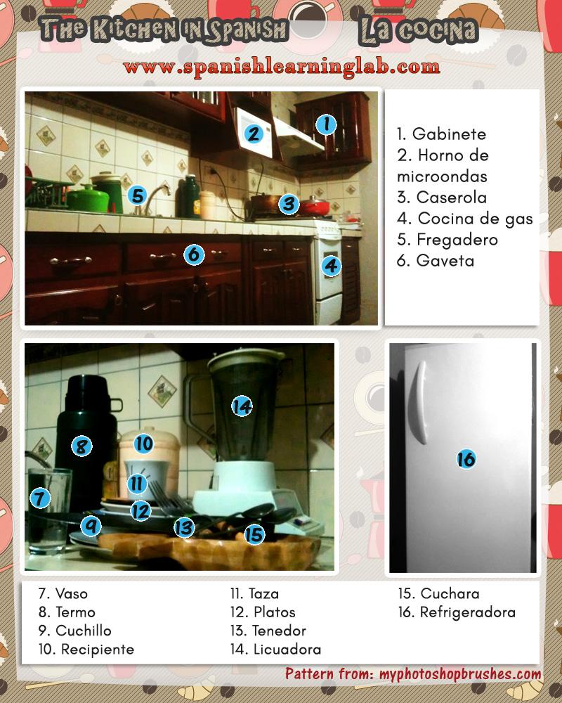kitchen objects in spanish los objetos de la cocina en español
